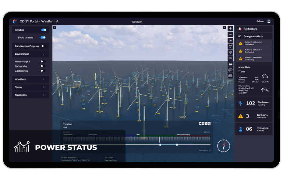 The platform can track real time power production and revenue generation